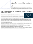 Top 5 Strategies for Combating Modern Information Security Threats