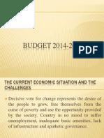 Budget 2014-2015