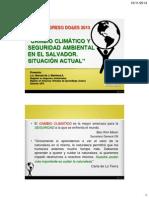 Cambio ClimaticoySeguridad Ambiental El Salvador