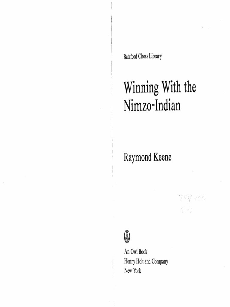 Winning With the Nimzo-Indian (Batsford Chess Library)