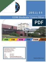 UOM Students' Union Bilan 2013/14