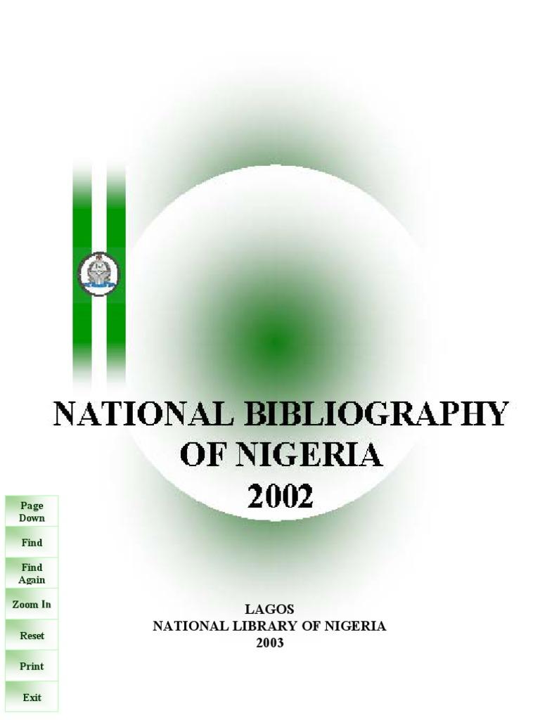 National bibliography