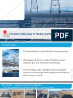 The Role of Utility-Scale PV Plants in Grid Stability and Reliability