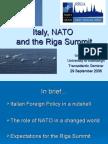 Italy, nato and the riga summit