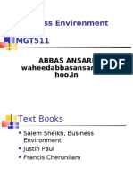 Business Environment (BE) MGT511
