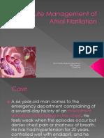 AcuteManagementofAtrialFibrillation.ppt
