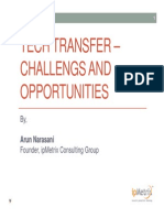 Tech Transfer Challenges and Opportunities in India, by Arun Narasani