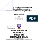 Accounting Procedure of Shahjalal Islami Bank Ltd Compared to International Accounting Standard