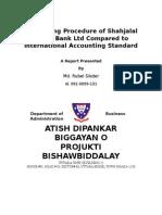 Accounting Procedure of Shahjalal Islami Bank Ltd Compared to International Accounting Standard