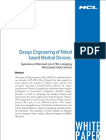 Design Engineering of Nitinol