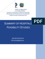 Afghan - Summary of PPP Hospitals Feasibility Studies - FINAL