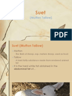Suet (Mutton Tallow) Report