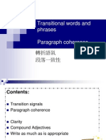 W9 - Transitional Words or Phrases and Paragraph Coherence (1)