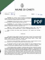 CHIETI Ord. Sindacale n. 242 - Pneumatici Invernali o Catene - Nov. 2014