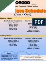 FCFTI 2010 Schedule
