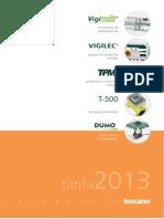 Catalogo Tarifa Toscano 2013