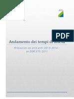 SANITA'. REGIONE ABRUZZO Report Tempi Attesa