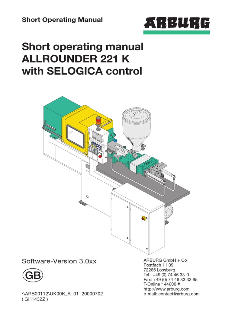 arburg 221 manual floppy disk engineering tolerance rh scribd com Molding Machine Arburg 470 Used arburg injection molding machine manual pdf