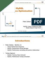 UC2005 Advanced MySQL Performance Optimization