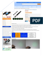 100mw Pointeur Laser vert 5 effets pas cher