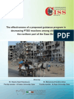 The Effectiveness of a Proposed Guidance Program in Decreasing PTSD Reactions Among Children in the Northern Part of the Gaza Strip