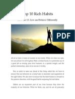Top 10 Rich Habits