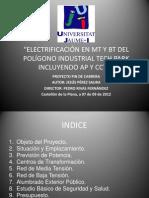 Electrificación en Mt y Bt Del Polígono
