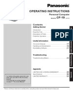 CF19K Mk3 Operating Instructions