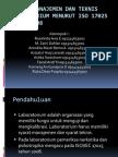 Syarat Manajemen Dan Teknis Laboratorium Menurut ISO 17025