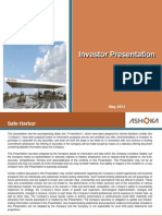 Ashoka Investor Presentation May 2014