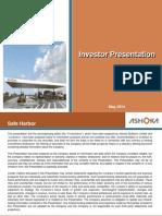 Ashoka Investor Presentation May 2014