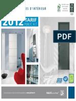 Tarif Public Jeld-wen 2012 Sans Page Commerciaux