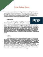 china culture essay pdf
