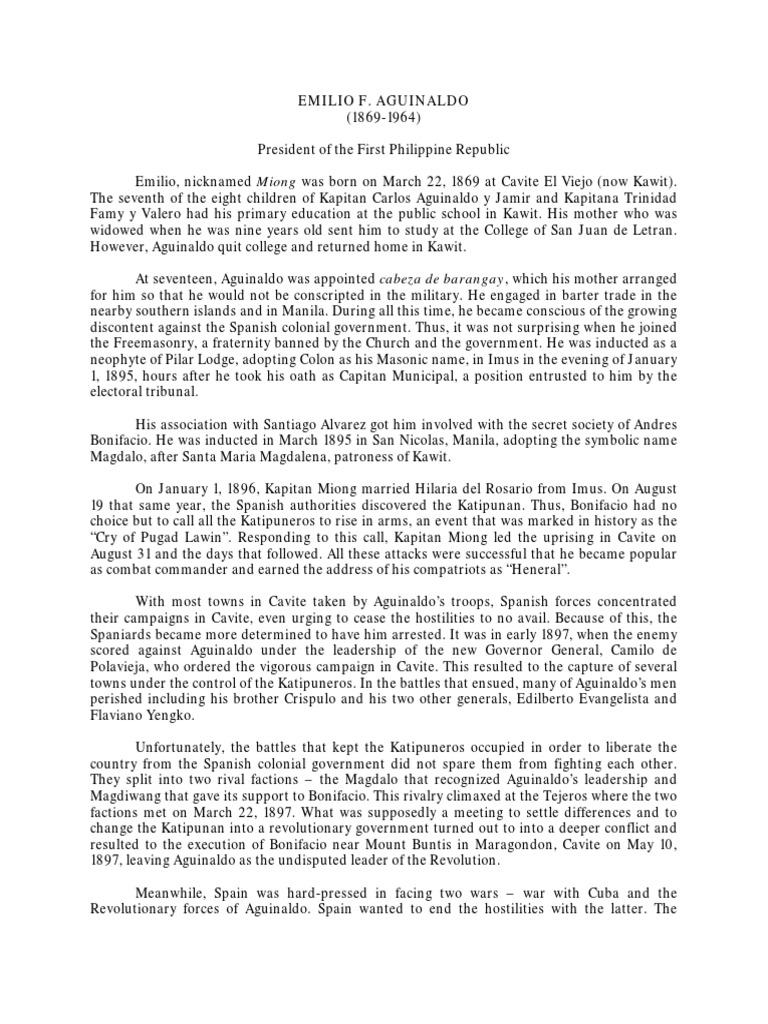 Aguinaldo   Philippines   Armed Conflict