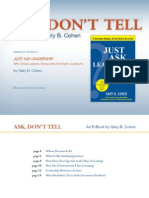 Ask Don't Tell Leadership - How To Create Alignment, Engagement, & Accountability
