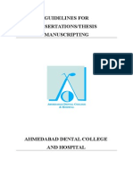 Gujarat University Thesis Guidelines