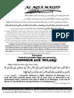 HONNEUR AUX عOULAMÀ'