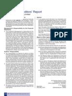 ITC Auditors Report