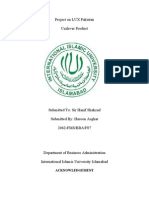 Project on LUX Pakistan
