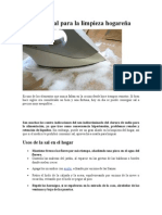 Usos de La Sal Para La Limpieza Hogareña
