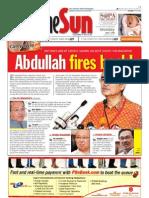 The Sun Malaysia Cover (7 April 2008)