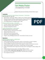 carl w plucker resume 2014