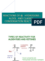 Reactions of α -Hydrogens