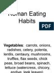 ! Roman Eating Habits
