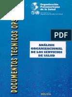 Analisis Organizacional de Los Servicios de Salud