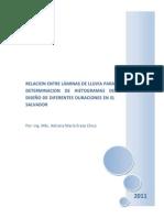 Relacion Entre Laminas de Lluvia Comparaciones Mundiales