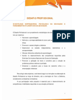 DESAFIO PROFISSIONAL A1 2014 2 LTR2 Fundamentos Filosoficos Educacao Psicologia