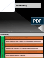 Forecasting (Operation Planning & Control)