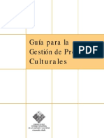 Gestión Proyectos Culturales