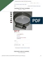Abrazaderas de Acero Inoxidable - BsF 75,00 en MercadoLibre